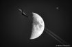 Moon and Plane wi...