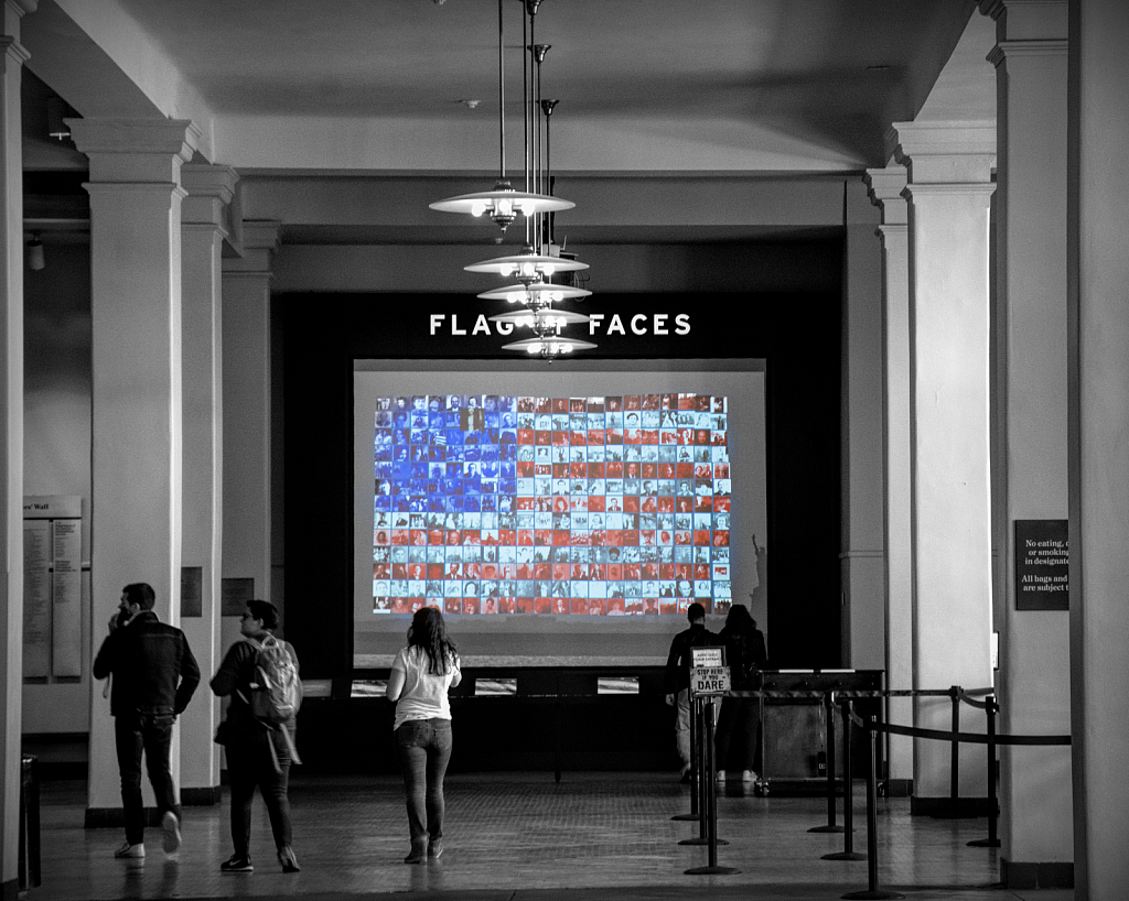 Flags And Faces Display (Ellis Island)