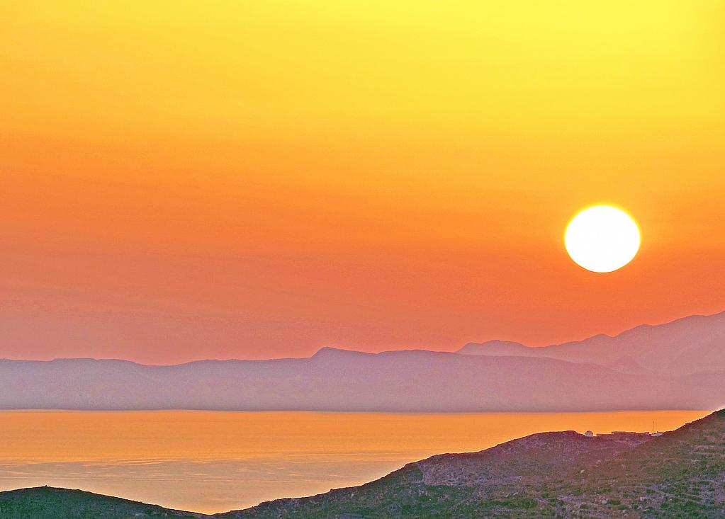 Sunset at an Aegean island.