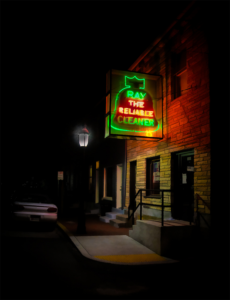 Midnight at the Cleaner - Cumberland, MD - ID: 15817382 © Martin L. Heavner