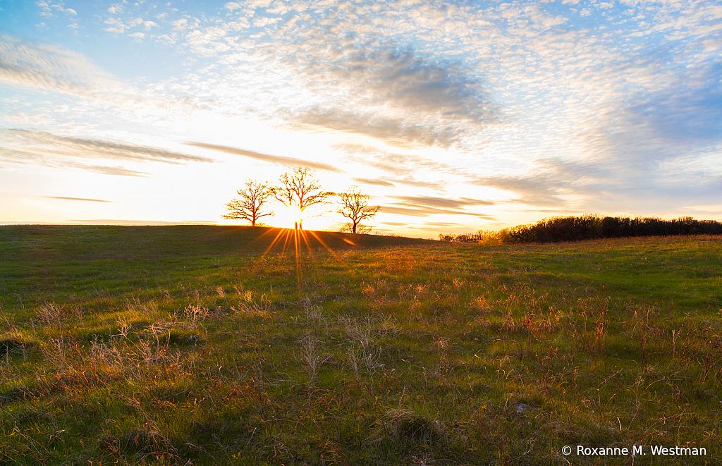 North Dakota sunset in the grasslands - ID: 15817963 © Roxanne M. Westman