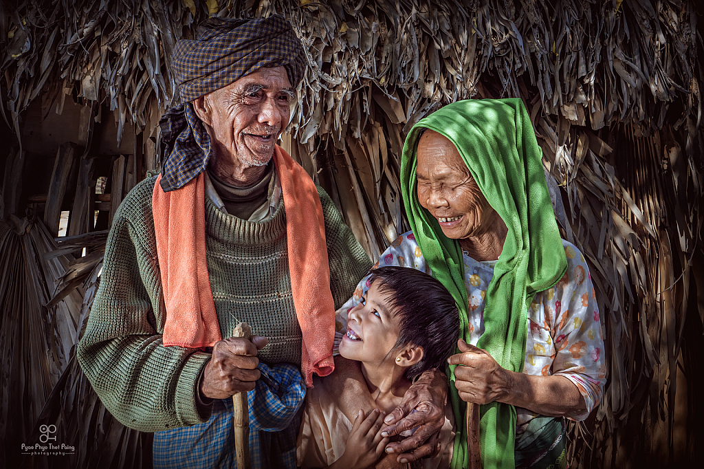 The smile of family