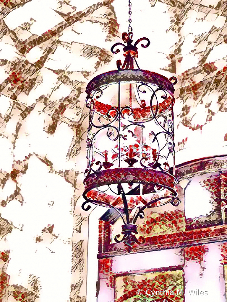 Watercolor Porch Light - ID: 15847803 © Cynthia M. Wiles
