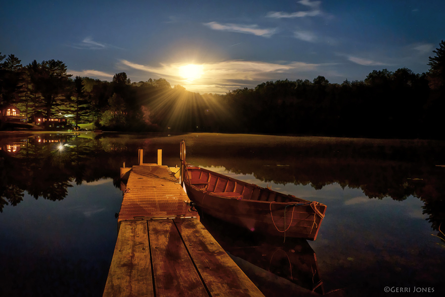 Moonrise Over The Adirondacks Hideaway