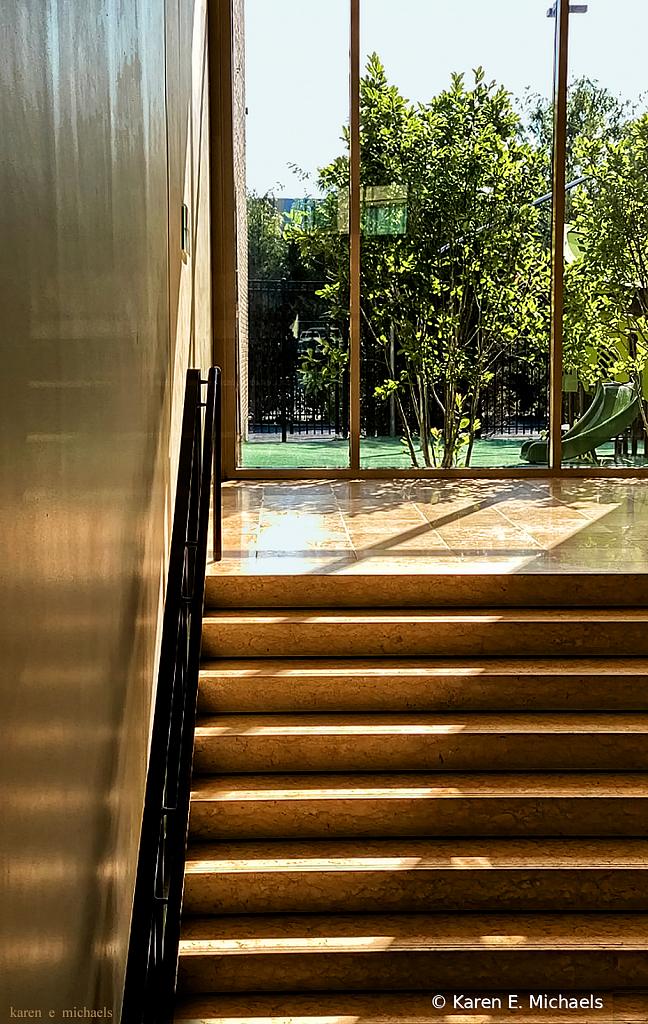 Sunlight Across Stairs - ID: 15851476 © Karen E. Michaels
