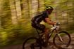 Blurred biker