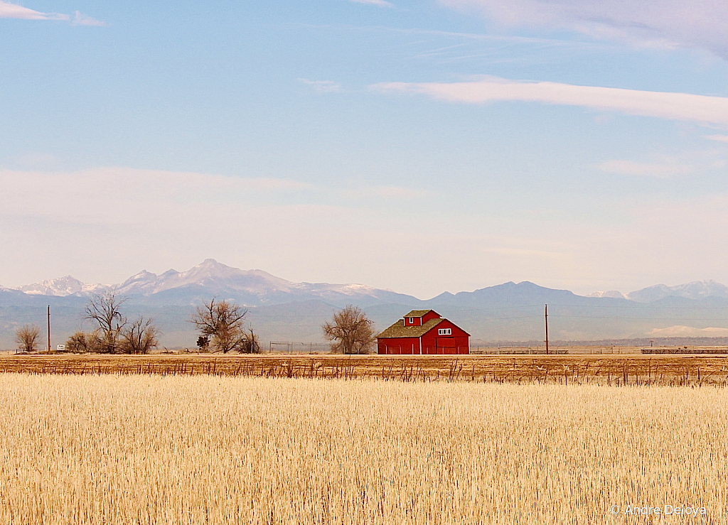 Red Barn on Colorado Plains