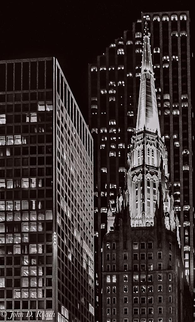 Steeple in the City - ID: 15878611 © John D. Roach