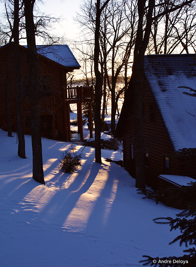Winter at the Cabin; Crack of Dawn