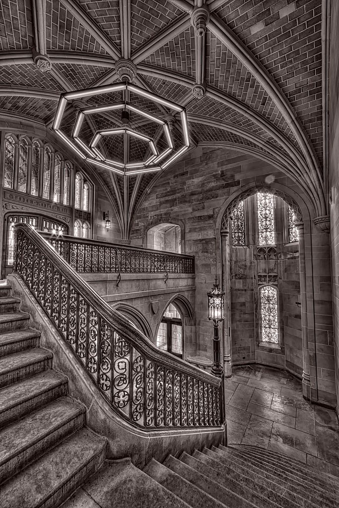 Seminary Stairs at the University of Chicago