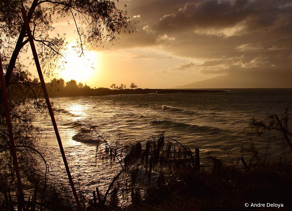 Still Surfing at sunset.