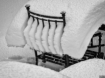Snow on the chair