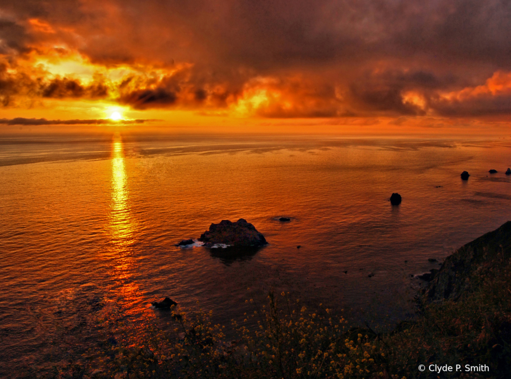Sunset on Big Sur - ID: 15884842 © Clyde P. Smith