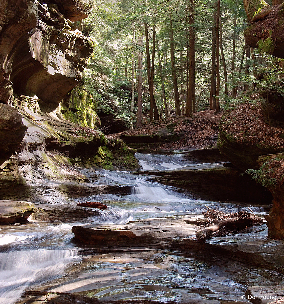 Hocking Hills Stream - ID: 15886389 © Don Young