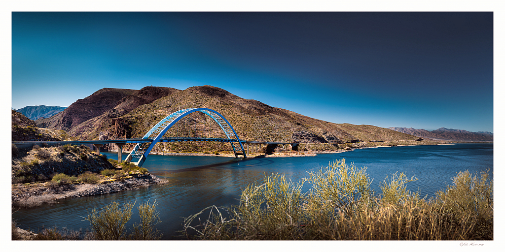 Bridge at Lake Roosevelt - ID: 15887669 © John E. Hunter