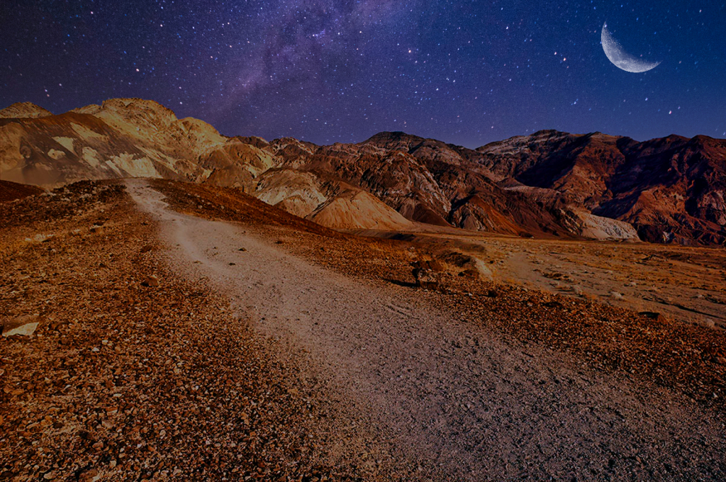 Night Drive In Death Valley