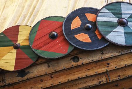 Viking Ship Shields