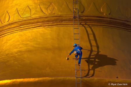 Painting Golden Pagoda