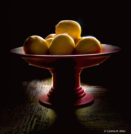Red Bowl of Lemons