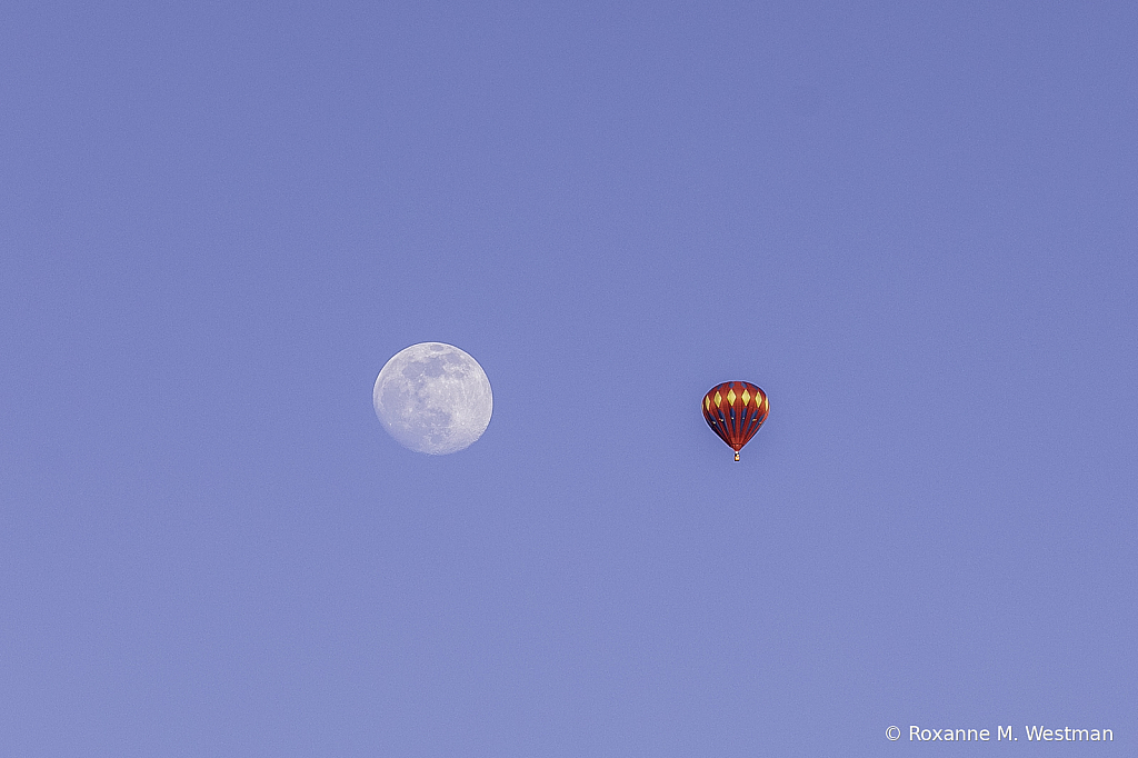 Hot Air Balloon and the Moon number 2 - ID: 15919113 © Roxanne M. Westman