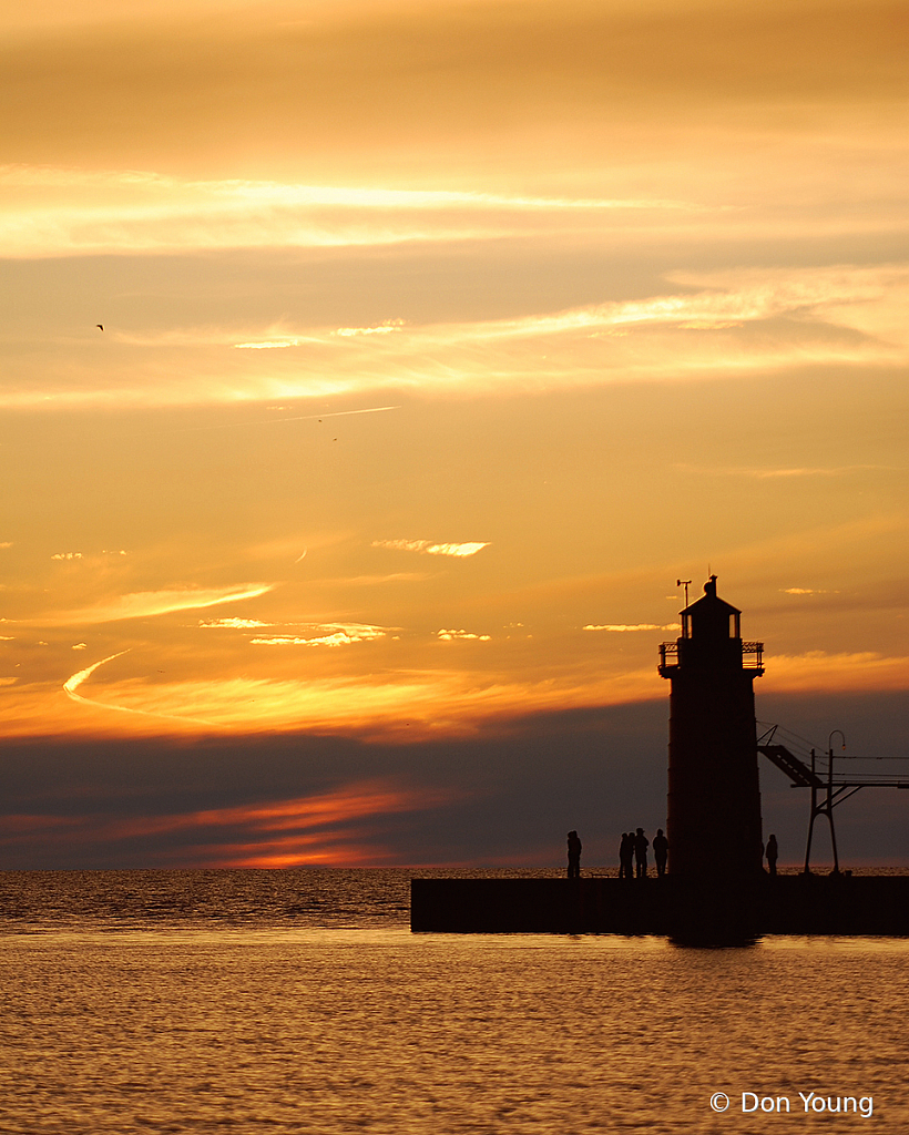 Sunset At The South Haven Lighthouse - ID: 15922103 © Don Young