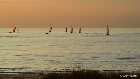 Golden Hour On Lake Michigan
