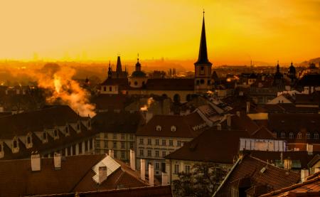 Evening Sky over Prague