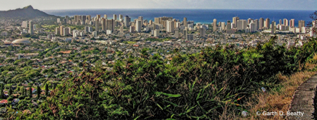 Honolulu from North to South
