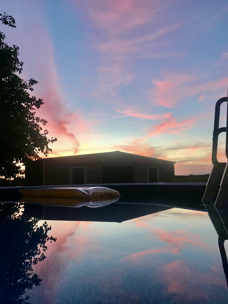 Pool view sunset - ID: 15926965 © Elizabeth A. Marker
