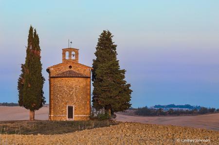 Behind the Chapel of the Madonna di Vitaleta