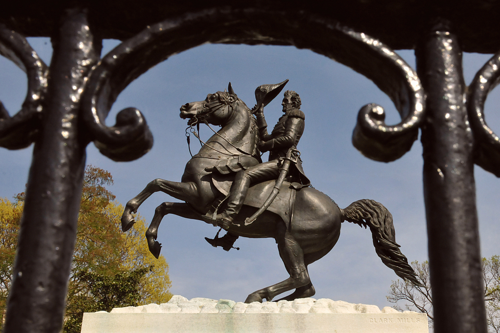 Now Controversial Andrew Jackson Statute - ID: 15930220 © William S. Briggs