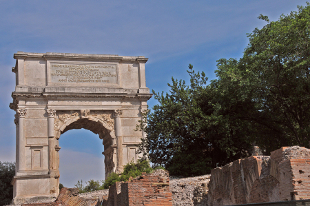 The 1,939 Year Old Arch of Titus (Rome)