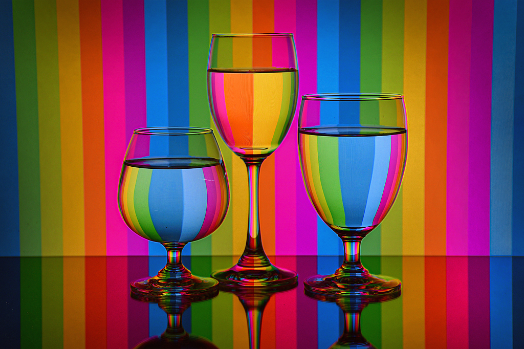 Colourful Wine Glass
