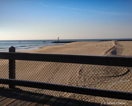 Empty Ocean City MD beach
