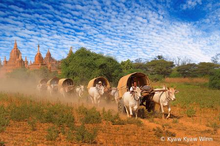 View of Bagan, Myanmar