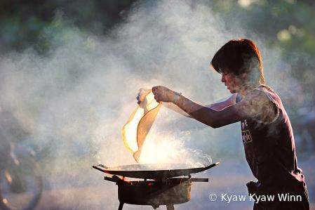 Man at Cooking Work