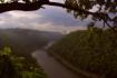 A river runs thro...