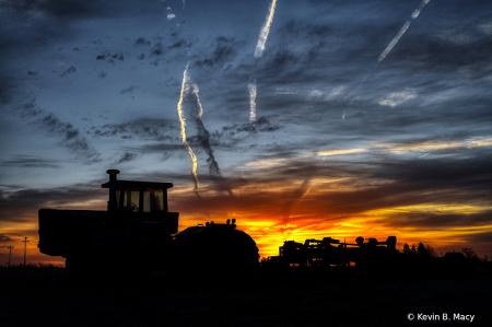 Tractor at Sunrise