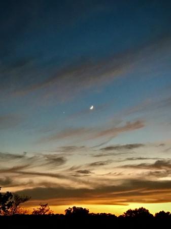 Crescent Moon and Venus - 1