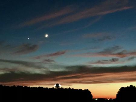 Crescent Moon and Venus - 3