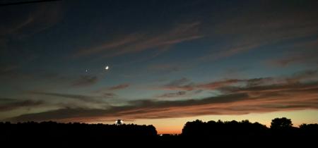 Crescent Moon and Venus - 4