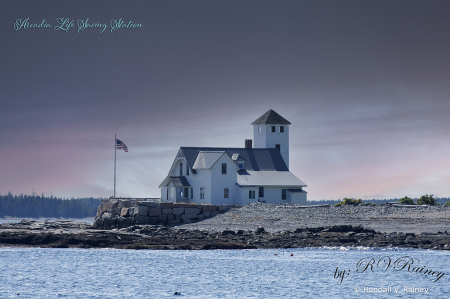 The old life Station at Wood Island...
