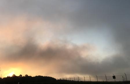 Sunrise through the fog