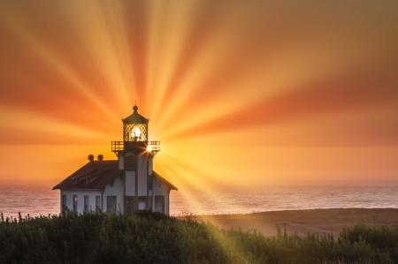 Lighthouse Sunset  3888