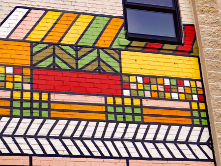 Graphics On A Building