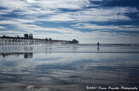 Oceanside Cloudy Reflections