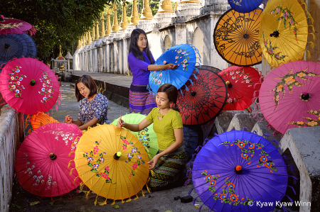 Drawing on the Umbrellas