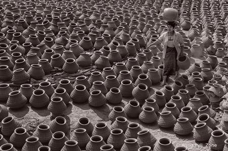 Arranging the pots