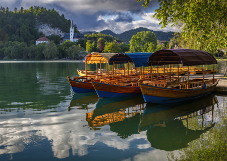 Boats on Lake Bled