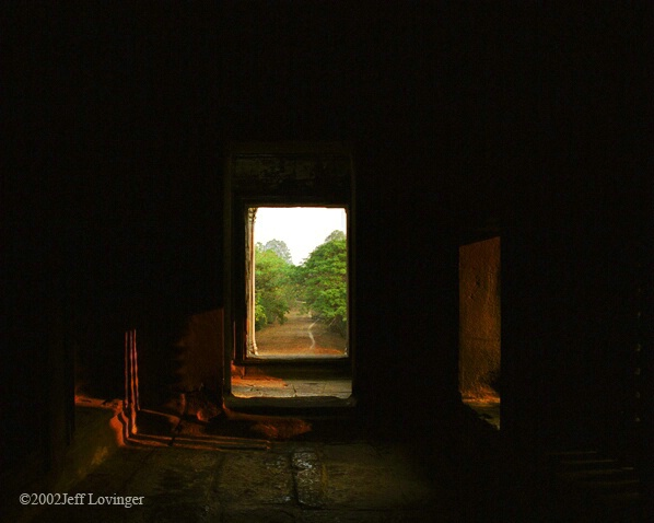 Angkor Wat Door Reflection
